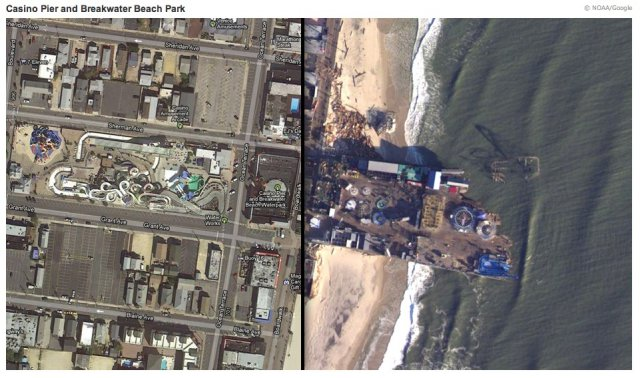 Hurricane Sandy Jersey Shore Before And After New Jersey Shore Before