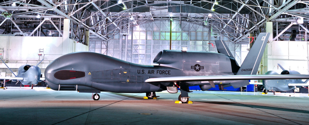 ASIP Block 30M RQ-4B Global Hawk glamour shoot at Edwards Hangar
