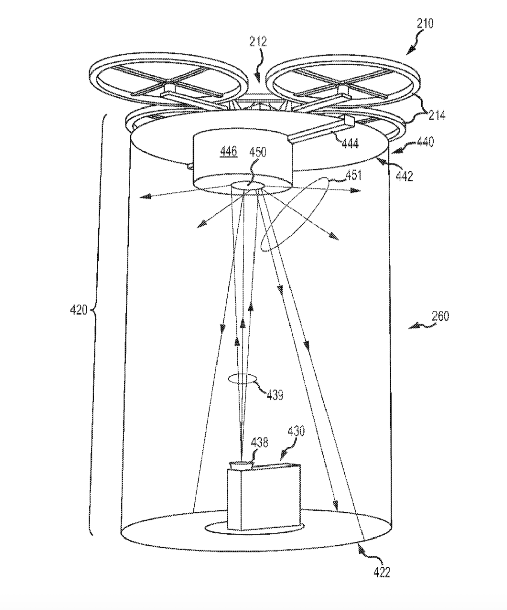 disney patents drone based movie projection system uas vision 20 Fast and Furious disney patent