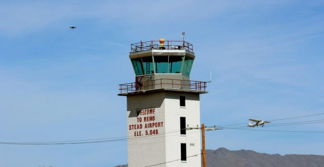 Four autonomous unmanned aircraft flew simultaneously on pre-determined flight paths at the Reno-Stead Airport