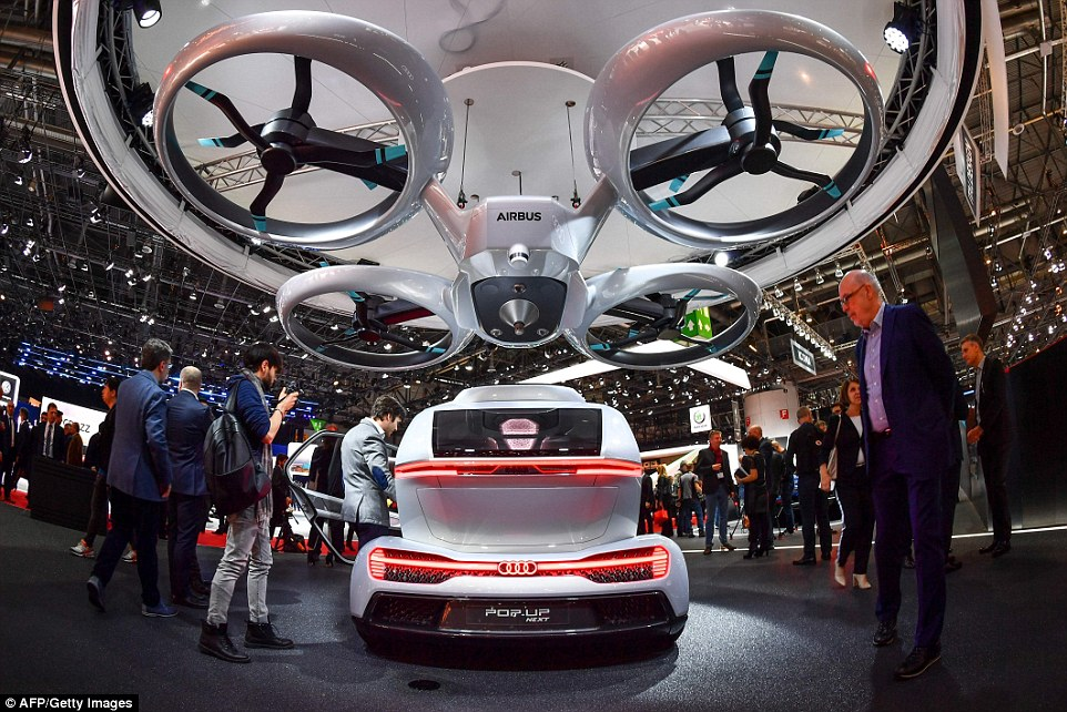 Airbus Audi Italdesign Reveal Flying Taxi At Geneva Auto Show - Next auto show