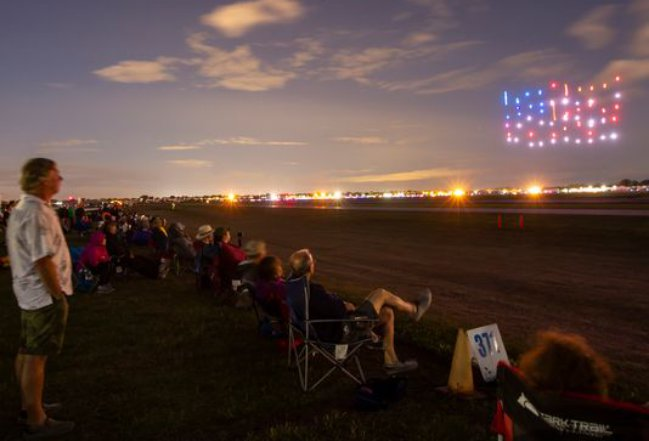 Drone Light Show Sparkles at EAA AirVenture Oshkosh – UAS VISION